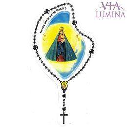 Adesivo Nossa Senhora de Nazaré - Terço Preto