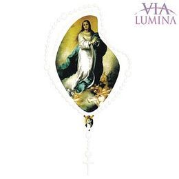 Adesivo Nossa Senhora Imaculada Conceição - Terço Branco