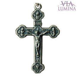 Crucifixo Prata Velha 28mm x 45mm