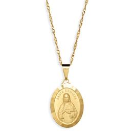 Medalha Folheada de Santa Edwiges - 25mm