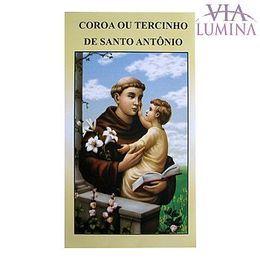 Folheto - Coroa ou Tercinho de Santo Antônio - Pacote c/ 50
