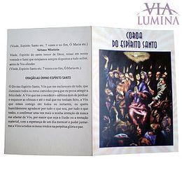 Folheto - Coroa do Espírito Santo - Pacote c/ 50