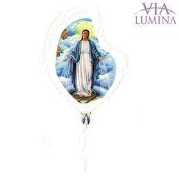 Adesivo Nossa Senhora das Graças - Terço Branco