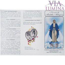 Novena da Medalha Milagrosa - Folheto - Pacote c/ 100