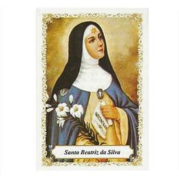 Santa Beatriz da Silva - Pacote c/100 Santinhos de Papel