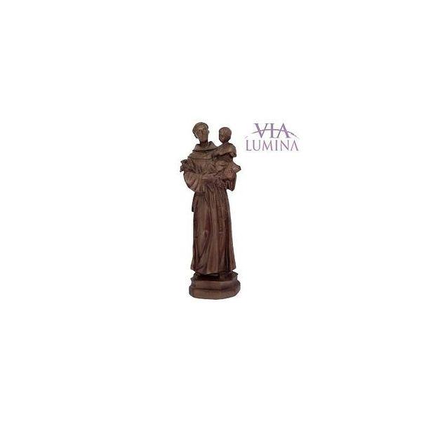 Imagem Santo Antônio - Resina estilo Madeira - 16cm