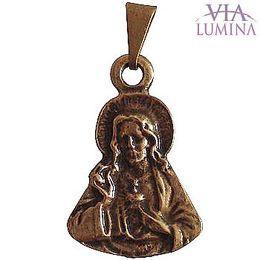 Medalha Busto Sagrado Coração de Jesus - Ouro Velho - 2cm