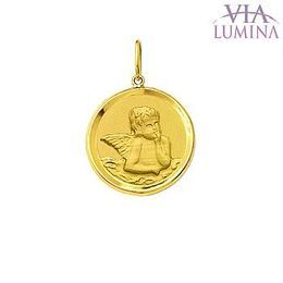 Medalha do Anjo da Guarda em Ouro Redonda - 1,3cm