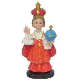 Imagem do Menino Jesus de Praga em Resina de 7,5cm