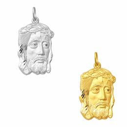 Pingente da Face de Cristo em Ouro