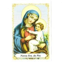 Santinho de Papel de Nossa Senhora da Paz - Pacote C/100