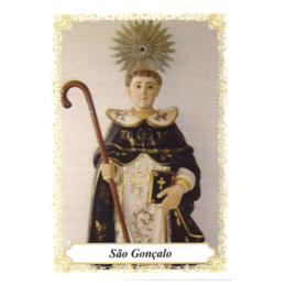 Santinho de Papel de São Gonçalo Garcia - Pacote c/ 100