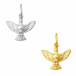 Pingente do Divino Espírito Santo em Ouro