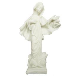Nossa Senhora Rainha da Paz - Resina Branca - 15cm