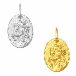 Pingente Face de Cristo em Ouro
