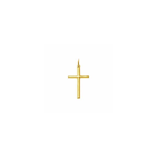 Cruz Palito em Ouro - Meia Cana