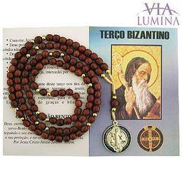 Terço Bizantino com Medalha Colorida