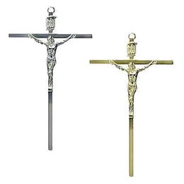 Crucifixo de Parede em Metal - Chato