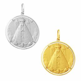 Medalhão de Nossa Senhora Aparecida em Ouro