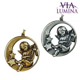 Medalhão Anjo com Banjo para Berço