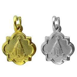Medalha de Nossa Senhora Aparecida - Modelo Basílica - 1,1cm
