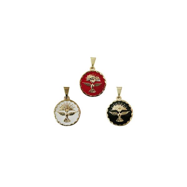 Medalha do Divino Espírito Santo Dourado - 1,5cm