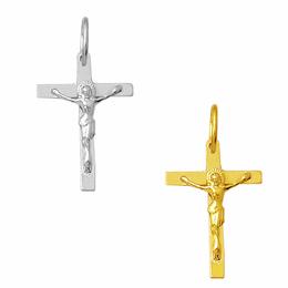 Crucifixo em Ouro - Reto