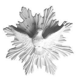 Divino Espírito Santo de Gesso Branco de 16cm