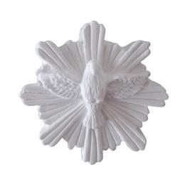 Divino Espírito Santo de Gesso Branco de 7cm para parede