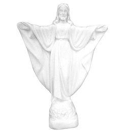 Cristo Redentor de Gesso Branco de 28cm