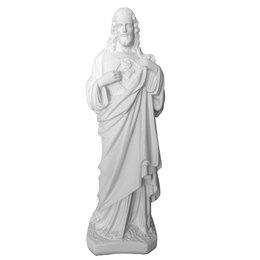 Sagrado Coração de Jesus de Gesso Branco de 42cm