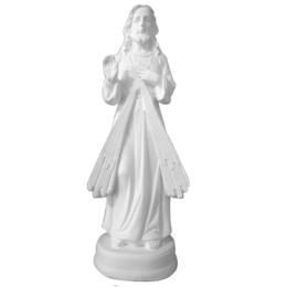 Jesus Misericordioso em Gesso Branco de 21,5cm