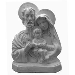 Busto da Sagrada Família - Gesso Branco - 29,5cm