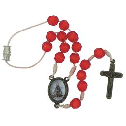 Mini Terço Acrilíco São Cristovão/Nossa Senhora Aparecida