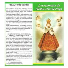 Folheto Devocionário do Menino Jesus de Praga