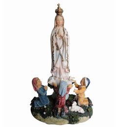 Imagem de Nossa Senhora de Fátima com Pastorinhos em Resina de 13cm