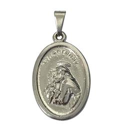 Medalha de Santo Antônio em Metal - Níquel - 2cm