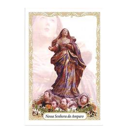 Santinho de Papel de Nossa Senhora do Amparo - Pacote c/100