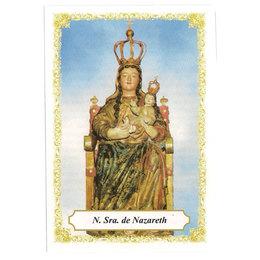 Nossa Senhora de Nazareth Sentada - Pacote c/ 100 Santinhos de Papel
