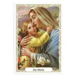 Santinho de Papel da Ave Maria - Pacote c/ 100