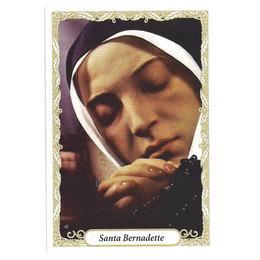 Santinho de Papel de Santa Bernadette - Pacote c/100