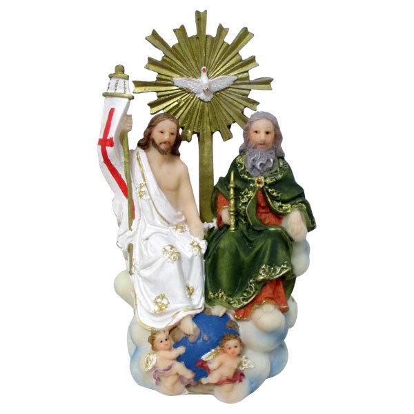 Imagem da Santíssima Trindade em Resina de 13cm