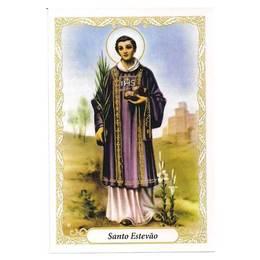Santinho de Papel de Santo Estevão - Pct. c/ 100