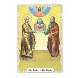 Santinho de Papel de São Pedro e São Paulo - Pct. c/ 100