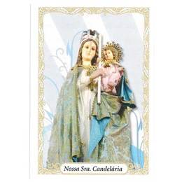 Santinho de Papel de Nossa Senhora da Candelária - Pct. c/100