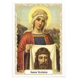 Santinho de Papel de Santa Verônica - Pct. c/ 100