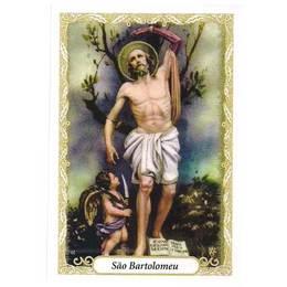 Santinho de Papel de São Bartolomeu - Pct. c/100