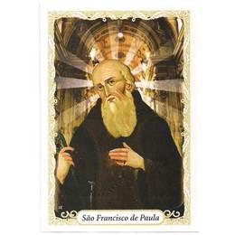Santinho de Papel de São Francisco de Paula - Pct. c/100