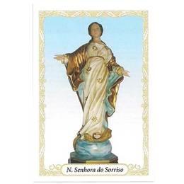 Santinho de Papel de Nossa Senhora do Sorriso - Pct. c/100