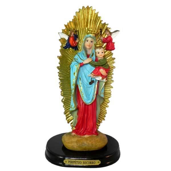 Imagem de Nossa Senhora do Perpétuo Socorro em Resina de 20,7cm